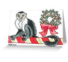 2013 Holiday ATC 18 - Holiday Monkey Greeting Card