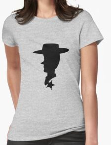 Sheriff Woody Silhouette Womens Fitted T-Shirt
