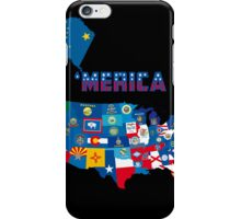 Patriotic America Map With States Flags iPod / iPhone 4  / iPhone 5 Case / Samsung Galaxy Cases  iPhone Case/Skin