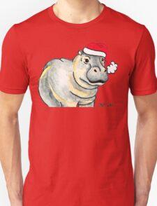 2013 Holiday ATC 17 - Ho Ho Ho Hippo Unisex T-Shirt