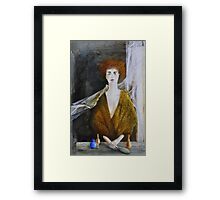 Into the mirror Framed Print