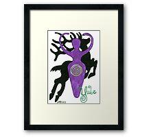2013 Holiday ATC 16 - Stag and Goddess Framed Print