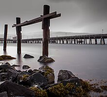old pier by JorunnSjofn Gudlaugsdottir