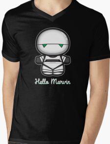 Hello Marvin Mens V-Neck T-Shirt