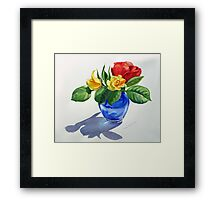 Red Yellow Green and Blue Framed Print