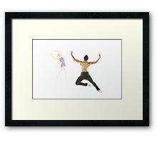 dancers male and female Framed Print