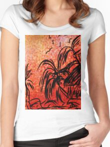 ©TAIMITIDESIGNS. -*ISLAND LIFE * Women's Fitted Scoop T-Shirt