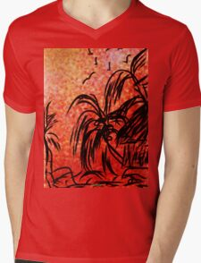 ©TAIMITIDESIGNS. -*ISLAND LIFE * Mens V-Neck T-Shirt