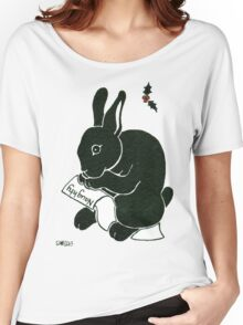 2013 Holiday ATC 15 - Rabbit Looking at the Naughty List Women's Relaxed Fit T-Shirt