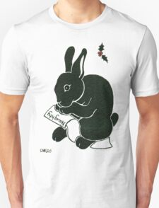 2013 Holiday ATC 15 - Rabbit Looking at the Naughty List T-Shirt