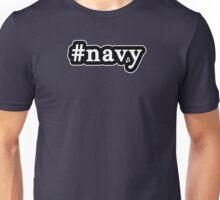 Navy - Hashtag - Black & White Unisex T-Shirt