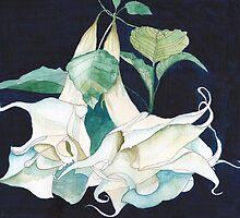 White Spanish Lilies by Esmee van Breugel