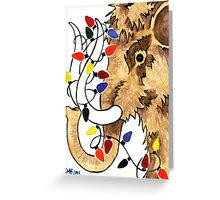 2013 Holiday ATC 14 - Wooly Mammoth with Christmas Lights Greeting Card