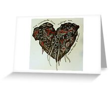 Two Wounded Hearts Greeting Card