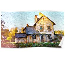 Cottage in the French Country Side Poster