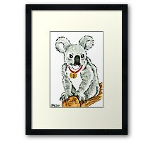 2013 Holiday ATC 13 - Koala with Sleigh Bell Framed Print