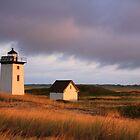 Wood End Lighthouse Landscape by Roupen  Baker