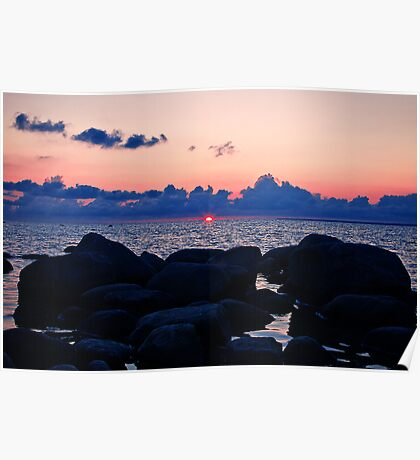 Sun Setting Over There Poster