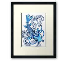 2013 Holiday ATC 12 - Koi with Snowflakes Framed Print