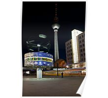Alexanderplatz at Night Poster