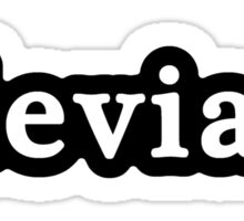 Deviant - Hashtag - Black & White Sticker