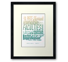 Hamlet - What A Piece of Work Is A Man Framed Print