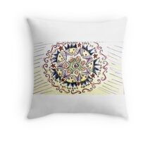 Psychedelic Stars Throw Pillow