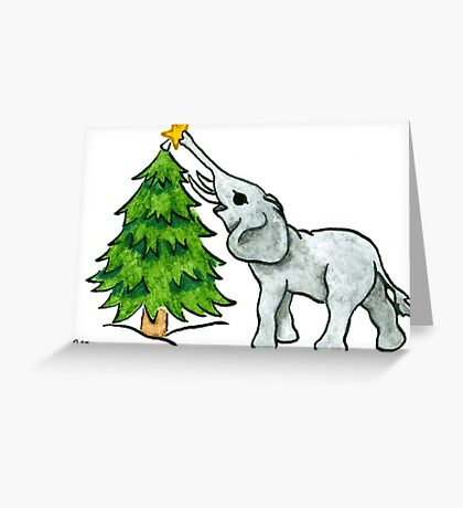 2013 Holiday ATC 11 - Christmas Tree and Elephant Greeting Card