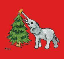 2013 Holiday ATC 11 - Christmas Tree and Elephant One Piece - Short Sleeve