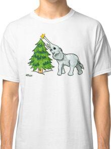 2013 Holiday ATC 11 - Christmas Tree and Elephant Classic T-Shirt