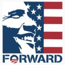 Obama Forward 2012 Flag Shirt by ObamaShirt