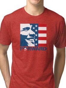 Obama Forward 2012 Flag Shirt Tri-blend T-Shirt