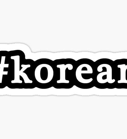 Korean - Hashtag - Black & White Sticker