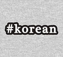Korean - Hashtag - Black & White Baby Tee