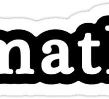 Maths - Hashtag - Black & White Sticker