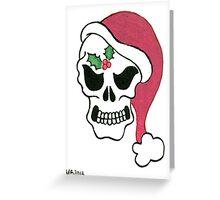 2013 Holiday ATC 10 - Santa Skull Greeting Card
