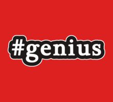 Genius - Hashtag - Black & White Kids Tee