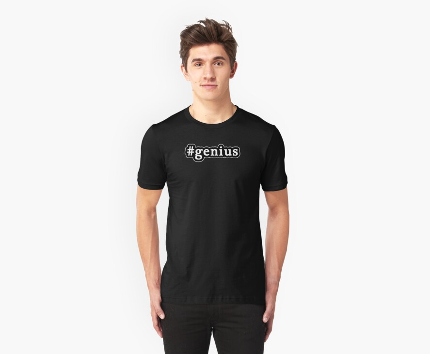 Genius - Hashtag - Black & White by graphix