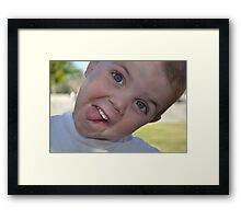 Silly face Framed Print