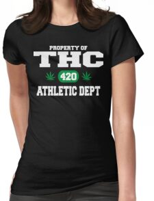 Cannabis THC Athletic Dept Womens Fitted T-Shirt