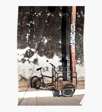 Battered Bike Poster