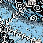 Xmas series- Snowflake Doodle coloured by KalonaCreations