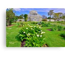Botanical House & Gardens Canvas Print