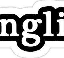English - Hashtag - Black & White Sticker