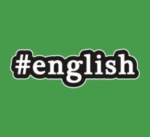 English - Hashtag - Black & White Kids Tee