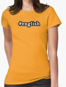 English - Hashtag - Black & White Womens Fitted T-Shirt