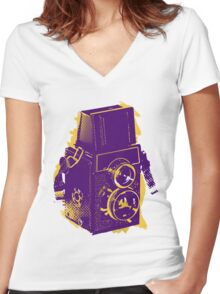 Lomo Lover  Women's Fitted V-Neck T-Shirt