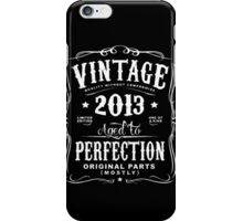 Year Of Birth 2013 Text White iPhone Case/Skin
