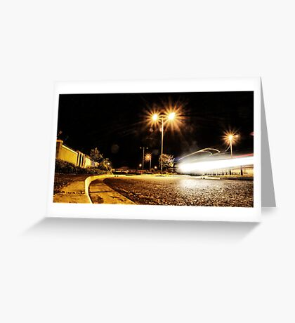 Cars Hiss By Greeting Card