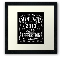 Year Of Birth 2013 Text White Framed Print